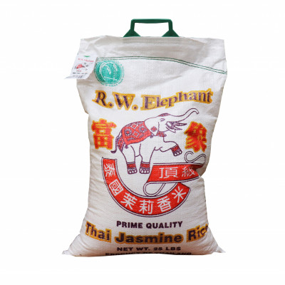 Thai Jasmine Rice 25 Lbs Long Grain